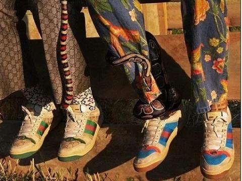 015d1bfc Новый модный тренд от Gucci: кроссовки, которые выглядят грязными и старыми